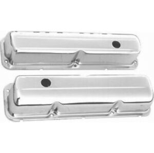 Racing Power R9296 Chrome Steel Valve Cover Baffled For Bb Ford New