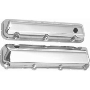 Racing Power R9297 Chrome Steel Baffled Ford Valve Cover For Bb Ford New