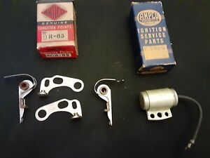 1936 1937 Cadillac 16 Cyl Dual Contact Ignition Points Set Condenser 35 36 37