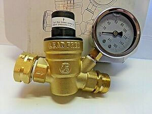 Aecojoy Water Pressure Regulator With 160 Psi Gauge And Lead free Brass