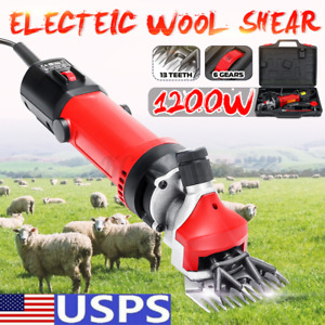 1200w Sheep Goat Shears Clippers Electric Animal Shave Grooming Farm Supplies Us