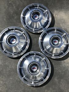 1966 Chevrolet Chevy 14 Set Of 4 Hubcaps Wheel Covers Vintage Free Shipping