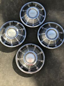 Chevrolet Chevy 14 Set Of 4 Hubcaps Wheel Covers Vintage Free Shipping