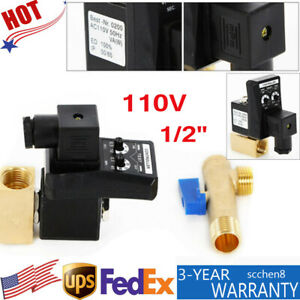 Automatic Timed Auto Drain Valve 2 Way Direct acting Air Compressor Gas Tank