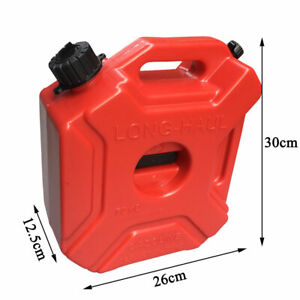 1 3gallon 5l Jerry Can Gas Fuel Tank Petrol Motorcycle Car Storage Container Red