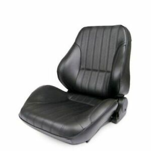 Scat 80 1050 51l Driver Side Rally Low Back Seat Black Vinyl New