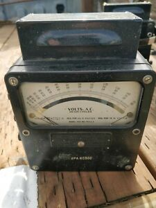 Vintage Western Electrical Instrument Corp Model 433 Is 185 Volt Meter Ac 25 125