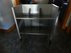 Metal Library Book Cart On Wheels 28x26x16