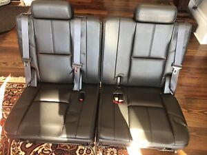 07 14 Chevy Tahoe Suburban Gmc Yukon Xl Escalade 3rd Row Seats Black Leather