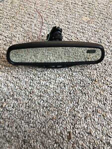 Silverado Tahoe Rear View Mirror Compass Temp Auto Dim Rearview Oem Gntx 177