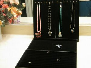 Set Of 4 Jewelry Display Boards Black Velvet Background 8 X 15 Necklace Ring