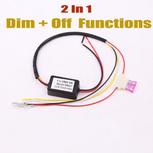 Led Daytime Running Light Relay Harness Drl Control Module Auto On Off Zl