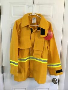 Firefighter Wildland brush Jacket With Reflective Stripes S Small R Barrier Wear