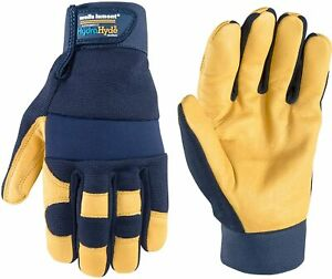 Wells Lamont 3207 Hydrahyde Men s Cowhide Leather Water Resistant Work Gloves