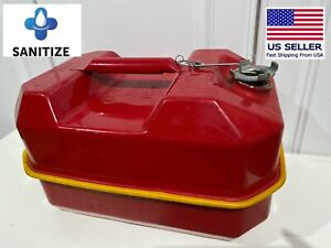 Blitz Gasoline Gas Can 9 5 Liters 2 1 2 Gallon Dot 5l Usmc 1986 Good Shape