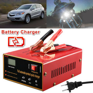 Maintenance Free Battery Charger 12v 24v 10a 140w Output For Electric Car Red