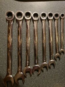 Craftsman 8 Pc Metric Combination Ratcheting Wrench Set Made In Usa 42451
