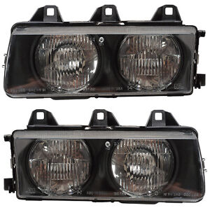Headlights Front Lamps Pair Set For 92 98 Bmw 3 Series e36 Left Right