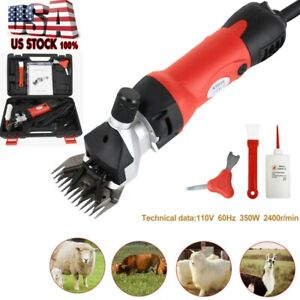 Red Sheep Goat Shears Clippers Electric Animal Shave Grooming Farm Supplies