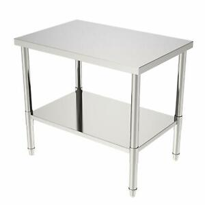 24 x36 x32 Commercial Stainless Steel Heavy Duty Food Prep Work Table Kitchen