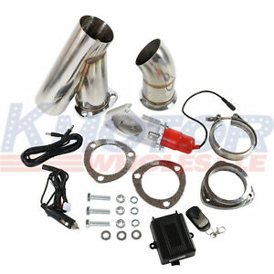 Electric Exhaust Muffler Valve Cutout System Dump Wireless Remote 3 Inch 76mm
