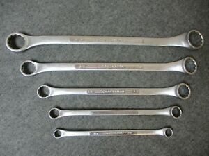 Craftsman Sae Double Box End Wrenches V Series Lot Of 5 Usa