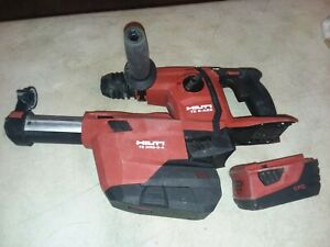 Hilti Te 6 a22 Cordless Hammer Drill With Te Drs 6 a Vacuum And 5 2ah Battery