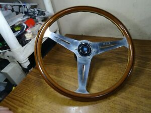 Vintage Nardi Torino Italy Wood Steering Wheel