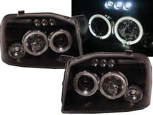 Frontier D22 2001 2004 Led Halo Projector Headlight Black Us For Nissan Lhd