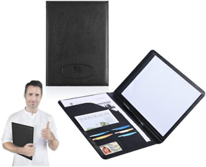 Leather Portfolio Folder Padfolio For Business School Office Conferences