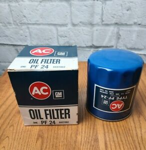 Ac Gm Pf 24 Oil Filter 6437462 Vintage Nos Blue In Box Buick Oldsmobile