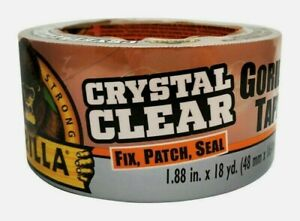 Gorilla Tape Crystal Clear 1 88 X 18 Yd Fix Patch Seal Transparent 6060002 New
