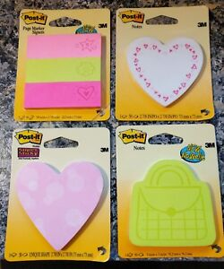 Post it Sticky Notes Trendy Love Note letter Hearts Purse Lot Of Four 4