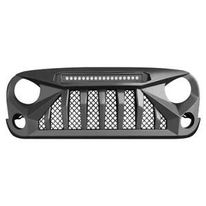 Front Mars Grille Grill With Led Running Lights For 07 18 Jeep Wrangler Jk Jku