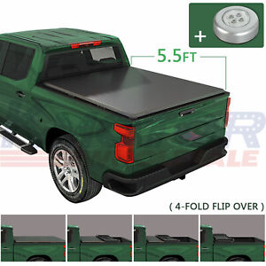 Soft 4 Fold Tonneau Cover 5 5ft Short Bed Truck Bed For Nissan Titan 2004 2015