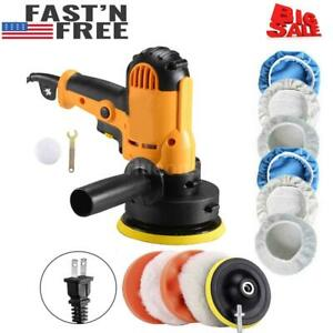700w Car Polisher Buffer Polishing Machine Kit Waxing Tool Buffing Pad Bonnet Us