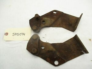 1960 Chevy El Camino Or Wagon Center Rear Bumper Brackets L r Oem