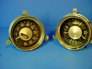 Vintage Chevy Ac Delco Gm 1950 s Cluster Gauges Speedometer