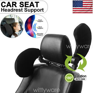 Adjustable Car Seat Pillow Headrest Travel Neck Sleep Support For Kids Adults Us