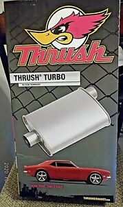 New 17711 Thrush Turbo Muffler 2 Inch Inlet And 2 Inch Outlet Free Shipping