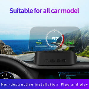 Universal Car Hud Display Obd Gps Head Up Display High Definition Speedometer
