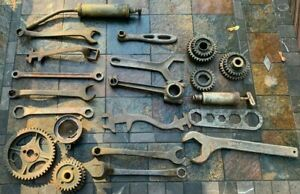 Rare Large Original 1910 20 s Ford Model A T Wrenches Gears Parts Lot