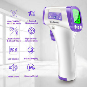 Thermometer Forehead Non contact Digital Infrared Medical Grade 1 Sec Accurate
