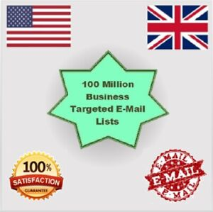 New 100 Million Uk Usa Email List For Marketing Business Targeted Email List