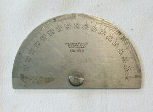 Vintage Starrett Steel Protractor angle Bevel No 893 Machinist Tool Vguc