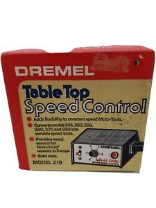 Dremel Model 219 Table Top Speed Control Grounded Solid State New Old Stock