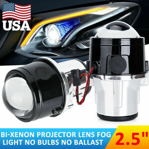 2 5 Hid Bi Xenon Led Projector Lens Fog Lights Driving Lamps Universal Fit Usa