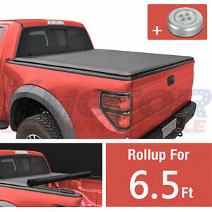 Tonneau Cover Lock Roll Up Soft 6 5ft Short Bed Fit For Dodge Ram 1500 2500 3500