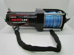 X Bull 3000lbs 12v Electric Winch Utv Winch Atv Winch Synthetic Rope 4wd