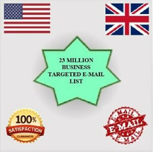 New 23 Million Uk Usa Email List For Marketing Business Targeted Email List